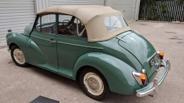 1963 Factory Original Morris Minor 1098 Convertible Deluxe